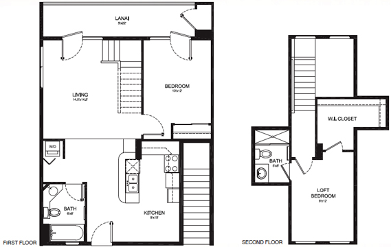 TYPE G - 2 BEDROOM 2 BATH, LOFT Something for every lifestyle 1026 Total Square Feet ~ 903 sq. ft Living Area ~ 123 sq. ft. Lanai